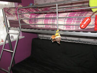 single bunk bed with sofa at bottom pulls out to a double year old excellent condition