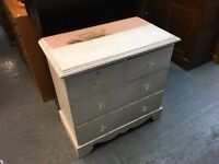 WHITE PAINTED PINE CHEST OF FOUR DRAWERS