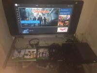 Selling Xbox one 500gb, 2 controllers with a charging dock, headset and 3 games. ono