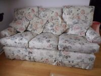 3 Piece suite. One three seater sofa, 2 chairs