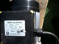 Badu pond pump only 6months old with conections