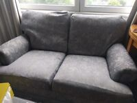 Two seater sofa. Blue. Light, with wheels.