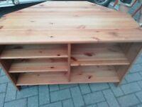 Pine TV unit W 75 cm H 40 cm V good condition