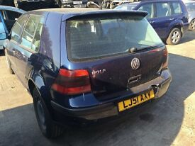 2001 GOLF SE AUTO ( PETROL) FOR PARTS ONLY