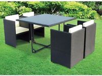 **FAST AND FREE UK DELIVERY** 5-Piece Rattan Garden Conservatory Furniture - OVER 50% OFF!