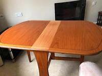 Beautiful gated leg table and 4 chairs plus sideboard - Morris Furniture Company of Glasgow