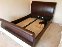 Kingsize Leather Sleigh bed