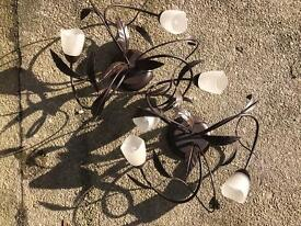 Set of 2 matching ceiling light fittings
