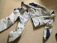 Firefly pale grey jacket salopette set 8 yrs