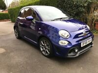 Fiat 500 abarth 66 plate in blue in great condition.