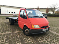 1997 TRANSIT RECOVERY TRUCK LWB SOLID BED 2.5 WINCH LOW MILEAGE SERVICE HISTORY TRANSPORTER DIESEL