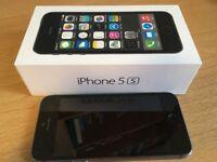 Boxed Apple iPhone 5s - 64GB - £120 - VGC Space Grey (Unlocked) Smartphone: No fingerprint sensor