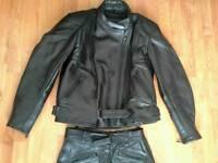 Womens Bikers Paradise 12-14 Motorbike Leathers Jacket & Trousers
