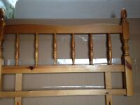 Single bed real wood headboard in excellent condition