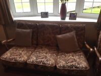 Ercol 3-seater settee and 2 chairs