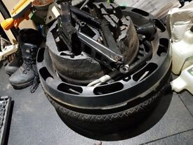 Spare space saving tyre astra h with jack etc