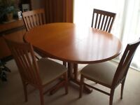 Dining room table and chairs set (G Plan)