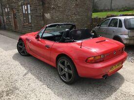 Red BMW Z3