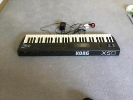 Korg X5D Music Synthesizer and Portable Stand