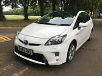 2013 TOYOTA PRIUS 1.8VVTI T-SPIRIT HYBRID (ONE OWNER) LEATHER**SOLAR ROOF**REDAR**CAN PCO**FSH