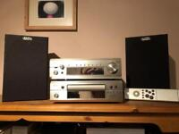 Denon DRA F101 and DCD F101 Amplifier, CD player and speakers