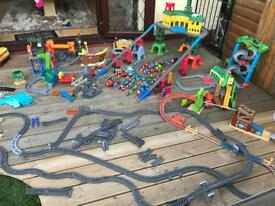 Thomas and friends superstation and track and trains