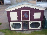 rabbit/guinea pig hutch deluxe
