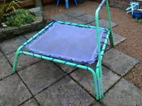 Trampoline, Early Learning Centre, with new elastic cord