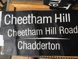 Longsight Middleton Cheetham Hill Vintage Bus destination signs