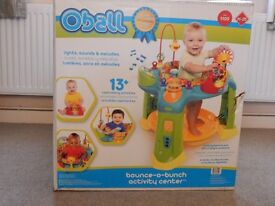 Oball bounce-o-bunch activity centre suitable when baby can sit up unaided - brand new in box