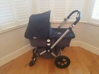 bugaboo cameleon 2 grey and black canvas fabric