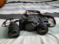 Canon 750D DSLR Camera with 18-55mm lens, 50mm lens and Rode Videomic Go