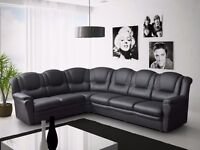 Brand new Texas 7 seater sofas, available in brown, black and cream ***Also available in fabric **