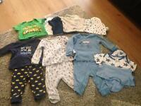 Baby boy joblot £5.00 3x pjs 7x vests great condition 6-9 month