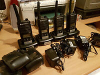4 x Motorola XTNiD walkie talkies