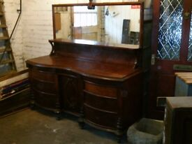 old mahogany mirror back sideboard