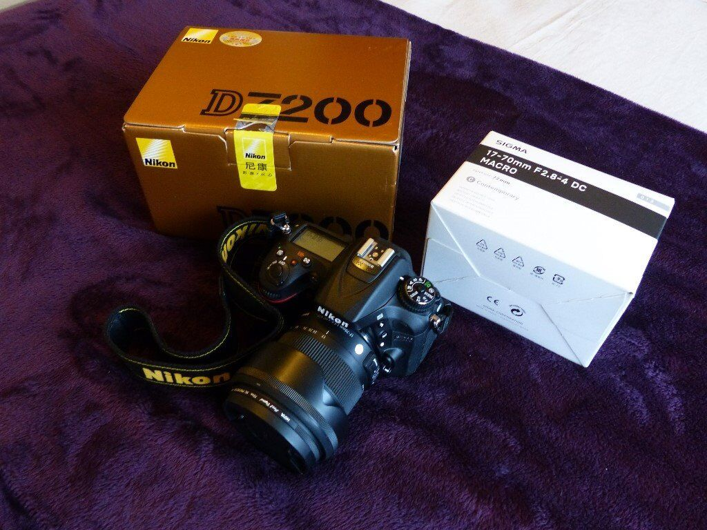 Nikon D7200 (Brand new) with excellent Sigma 17-70 f2.8-4 DC Macro and Nikon SB400 Flashgun