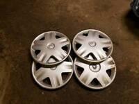 "Set of four genuine Renault 14"" wheel trims"