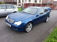 Mercedes C220 CDI SE Coupe, 6 speed manual, 2.2 diesel, 2004, In lovely condition.