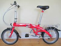 Dahon Curve Folding Bike With New & Unused Ortlieb Bag