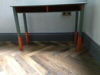 Kids vintage wooden painted desk
