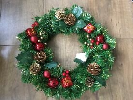 CHRISTMAS WREATH FOR GRAVE MEMORIAL
