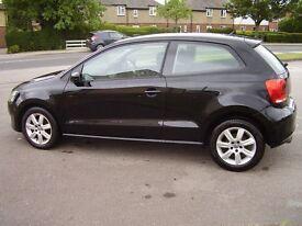 Volkswagen polo dsg 7 speed, black, one owner, full service history, 3 door