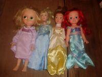 Disney Animator Rapunzel Ariel & Large Cinderella, Belle Dolls