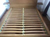 Ikea Malm King Size Oak Bed