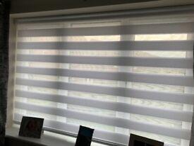 White Day & Night roller blind 170cm wide