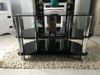 Glass TV Stand (Excellent Condition)
