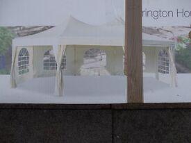 Milano Marquee, Gazebo, Festival Party Tent 7 x5 mtrs heavy duty cream in colour.