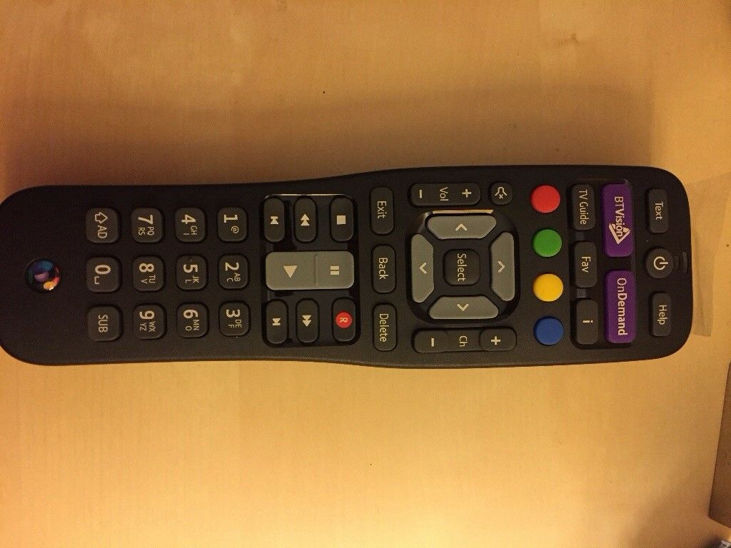 BT Vision remote control