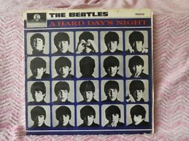 Beatles. A Hard Days Night LP and EP plus Beatles Hits EP. All original